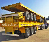 80 tonnes remorque d'utilitaire de cargaison en bloc et de conteneur