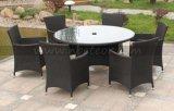 Runder Tisch des im Freienrattan-Mtc-069 und Stuhl-Set