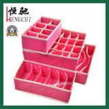Conjunto de caixa de armazenamento reutilizável colorido não estofado