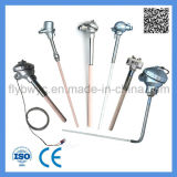 S pulsa el tubo de cerámica L termocople de la punta de prueba de la dimensión de una variable con temperatura alta