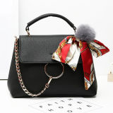2017 New Spring Collection Senhora Shoulder Bags Bolsa mais vendida com lenço de seda de pele Sy8171
