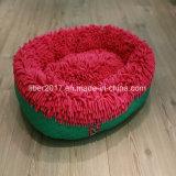색깔 Mop 피복 타원형 Petdog 고양이 침대 집 방석