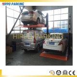 Mechanisches Pfosten-Auto-Parken-Zwei-Ebenengerät des Autoparkplatz-zwei