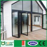 Falz-Tür Aluminiumwindows und Türen mit doppeltem Glas Pnocfd0025