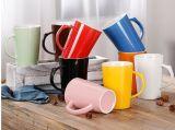 Tasses de café 11oz italiennes en céramique en gros avec le modèle de propriétaire