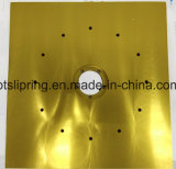 Las grandes piezas mecanizadas de aluminio / acero inoxidable en plano, redondo o en forma de vivienda