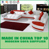 ヨーロッパ式の居間の贅沢なLederのソファー