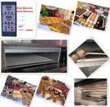 Four de gaz de machine de traitement au four de pizza à vendre (usine réelle)