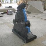 Голубые Headstones младенца скульптуры Eeyore гранита перлы