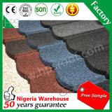 Tuile de toit enduite de toiture de pierre ondulée en gros de feuille