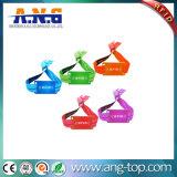 Braccialetti tessuti RFID inodori di colore completo di obbligazione