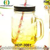 16oz продают высокий белый стеклянный опарник оптом каменщика с сторновкой (HDP-3061)