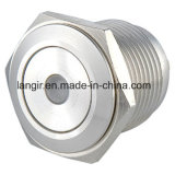 16mm de Korte Schakelaar van het Metaal van de PUNT van het Roestvrij staal van het Lichaam Kortstondige