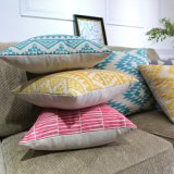 Almofada de cadeira de pátio liso de algodão rectangular durável