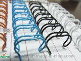 Nylon recubierto doble lazo de alambre para encuadernación