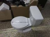 9001 ökonomische gesundheitliche Waren, kleine Toilette, preiswerte runde Siphonic zweiteilige Toilette