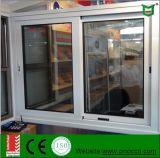Прикрепленное на петлях Ce алюминиевое стекло Wth сползая окна профиля Tempered
