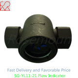Indicador visual de flujo de acero al carbono con impulsor roscado