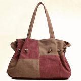 Nieuw Ontwerp kleur-Collsion Dame Handbags Canvas Tote Bag het Online Winkelen SA03