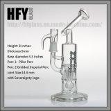 Pyrexのまっすぐなガラス配水管の陶酔するようなタバコのバブラーの卸売が付いているHfyガラス14.4mmの小型柱Perc