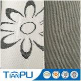 El hacer tictac hecho punto verde del colchón del hilado del color de Hangzhou