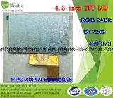 """étalage de TFT LCD de 4.3 """" 480X272 RVB, St7282, 40pin pour la position, sonnette, médicale"""