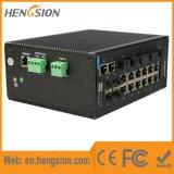 Interruptor industrial combinado da rede Ethernet de 4 gigabits com fibra 4