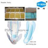 Adhésif chaud de fonte, matière première de colle de construction pour des couches-culottes de bébé