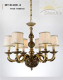 Lampshade de tecido Suporte Cooper Holder Vintage Chandelier Lights for Lobby