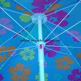 주문을 받아서 만들어진 디자인 여름 선전용 우산 옥외 비치 파라솔