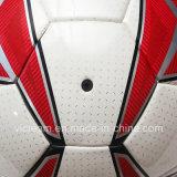 Напечатанный футбол размера TPU логоса красной античной официальной кожаный Nylon прокатанный раной