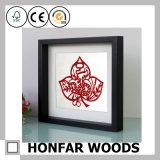Frame de retrato de madeira preto da caixa de sombra para a decoração Home