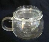 Taza de té de cristal de la pared doble única con el rectángulo de empaquetado del cartón