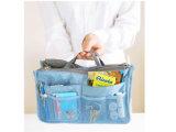 Saco Multifunction do armazenamento do Zipper cosmético grande do dobro do saco da lavagem da capacidade