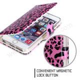iPhone 7 Schoner-lederner Deckel-Leopard-handgemachter Mappen-Telefon-Kasten