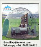 Новый приезжанный подгонянный шатер свадебного банкета геодезический купола 2017 с ясной крышкой крыши