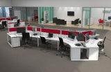 Sitio de trabajo de cristal del escritorio de oficina del marco de aluminio del diseño moderno (SZ-WST796)