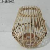 Tres colores de las linternas de bambú de la manera con la manija