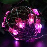 Conejo romántica decoración de la boda de cobre de cuerda rosa claro