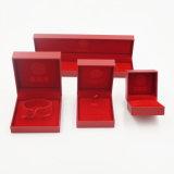 Contenitore di regalo di cuoio dell'unità di elaborazione del Leatherette della pelle scamosciata con stampa dorata (J97-EX)