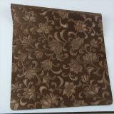 Cuir artificiel de PVC d'unité centrale de fleur d'irrégularité de qualité pour décoratif