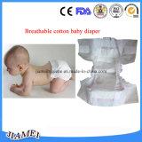 가득 차있는 주위 고무줄 허리를 가진 처분할 수 있는 면 아기 기저귀
