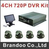 2017車の監視、遠隔アクセスのためのGPS 3G車DVRのための最もよい品質8 CH HDD SDのカード12のボルトDVR 3G GPSの手段DVR