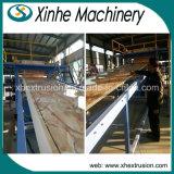 Placa de mármore decorativa do PVC que faz a máquina/PVC a linha de produção de mármore de imitação da folha