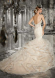 2017 Bordado Lace Appliqué S e Crystal Beading Bridal Wedding Dresses mm002