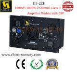 D3-2CH 1800W+1800WのクラスDの受動のスピーカーのための実行中のアンプのモジュール