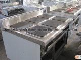Placa caliente eléctrica que cocina el rango con 4 hornillas y hornos
