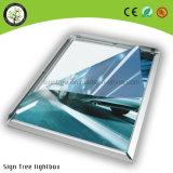 Caixa leve acrílica de anúncio ultra magro interna ao ar livre de indicador de diodo emissor de luz
