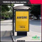 Рекламировать светлую коробку стоя рекламирующ светлую коробку