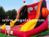 Gioco gonfiabile gonfiabile di sport del gioco di sfera del cestino